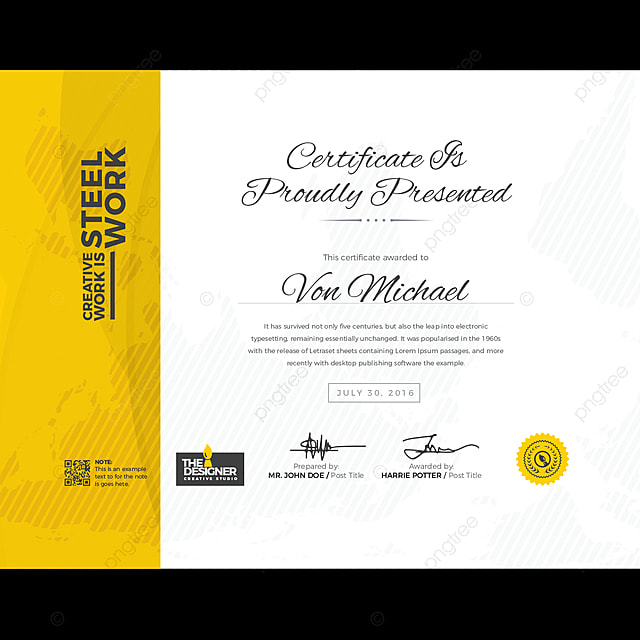 Elegance Horizontal Certificate With Vector Illustration Template For Free Download On Pngtree