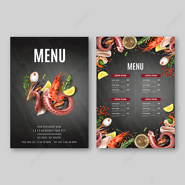 Restaurant Cafe First Food Menu Template Design Food Flyer