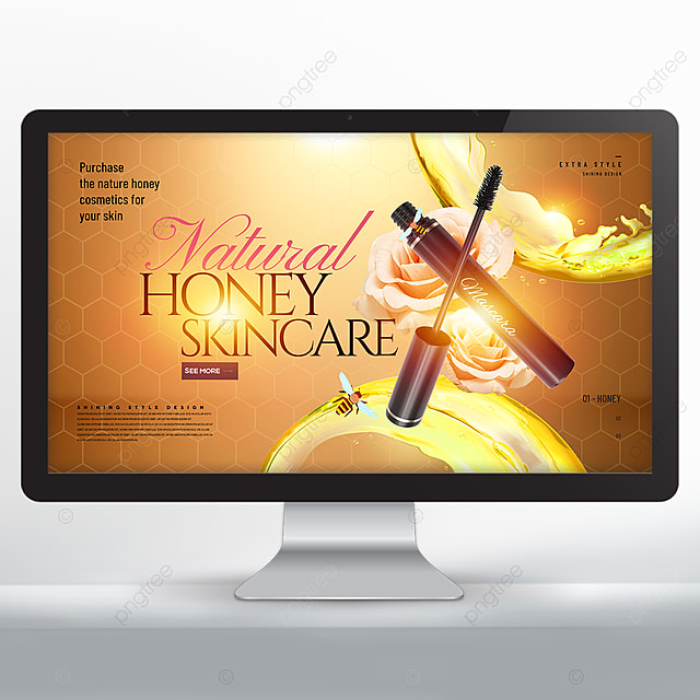 Stylish Cool Creative Texture Honey Skin Care Products Web Banner Template For Free Download On Pngtree