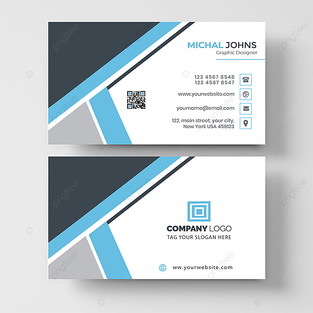 Professional Modern Business Card Design Template For Free Download On Pngtree