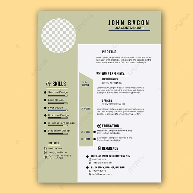 Simple Resume Design from png.pngtree.com