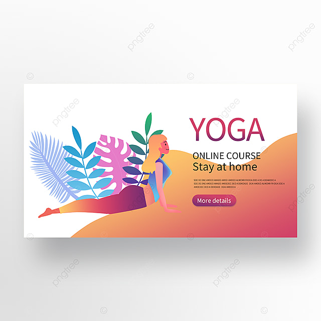 Colorful Online Yoga Course Banner Template For Free Download On Pngtree