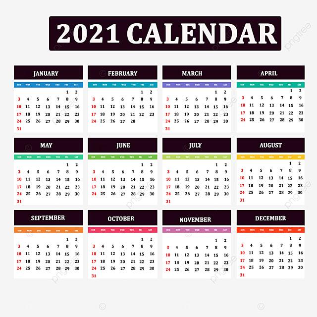 Template Background Kalender 2021 - Celoteh Bijak
