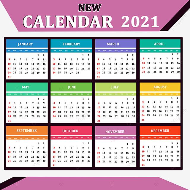 2021 Kalender Tahun Baru Templat untuk Unduh Gratis di Pngtree