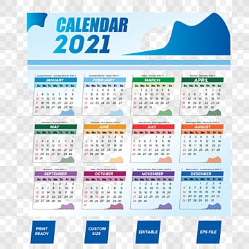2021 Calendar PNG Images | Vector and PSD Files | Free ...