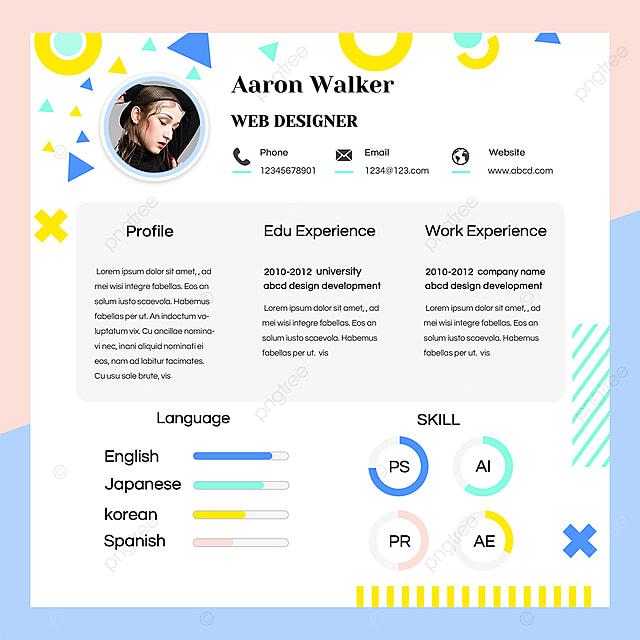 Online Personal Job Application Resume Template Design Template