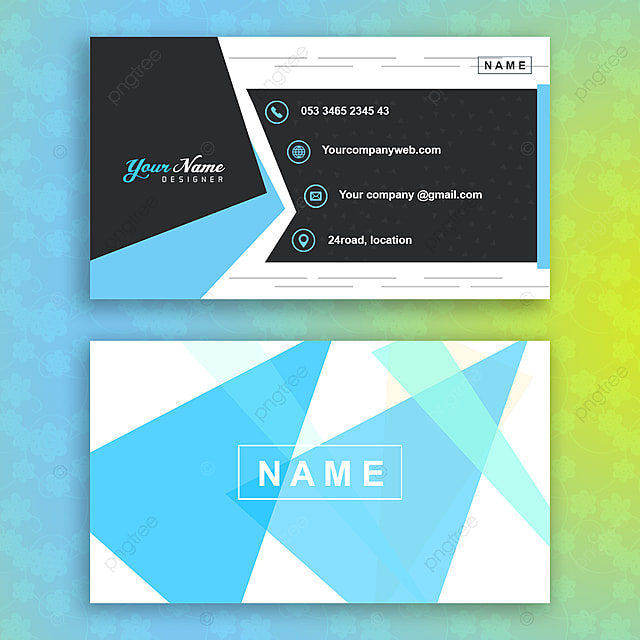 2 Sided Business Card Template Template Download On Pngtree