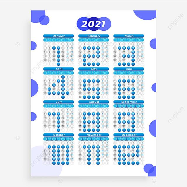 Kalender Dinding 2021 Kalender 2021 2021 Kalender Vektor ...