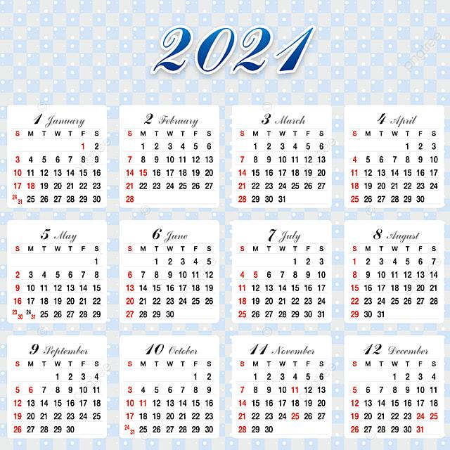 Desain Kalender 2021 Templat untuk Unduh Gratis di Pngtree