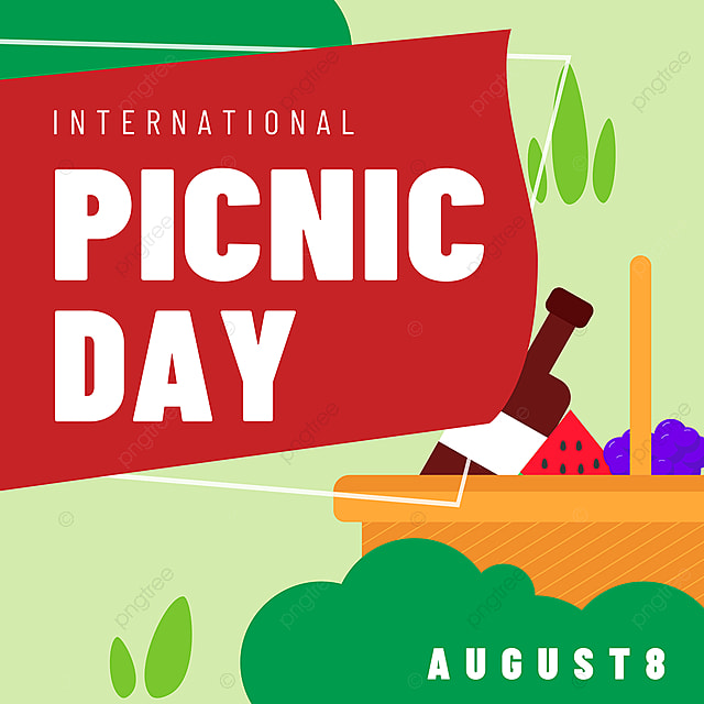 food basket grass field picnic day snsbanner