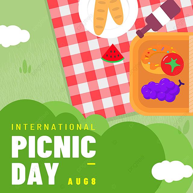 green bush tablecloth picnic day snsbanner