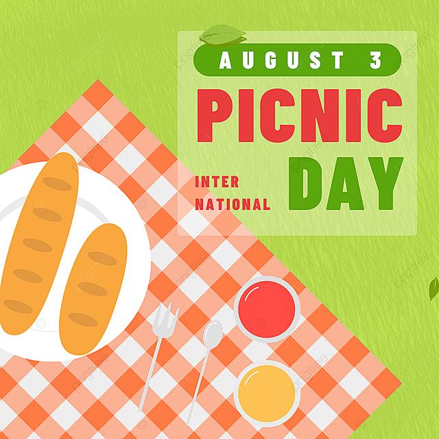 green grass tablecloth picnic day snsbanner