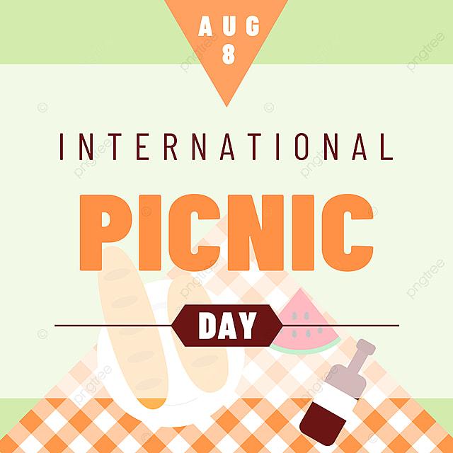 orange tablecloth picnic day snsbanner