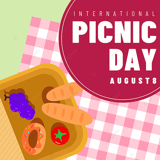 pink tablecloth food basket picnic day snsbanner