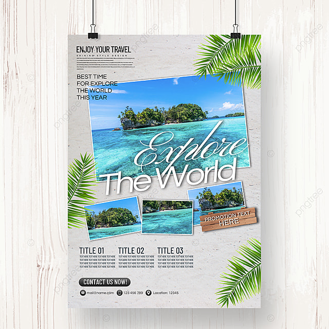 fashion simple and fresh style holiday tourism agency promotion poster