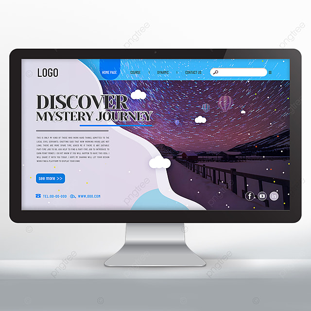 Fashion Tourism Agency Landing Page Design Template For Free Download On Pngtree