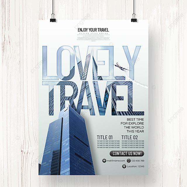modern fashion minimalist creative tourism agency summer promotion poster