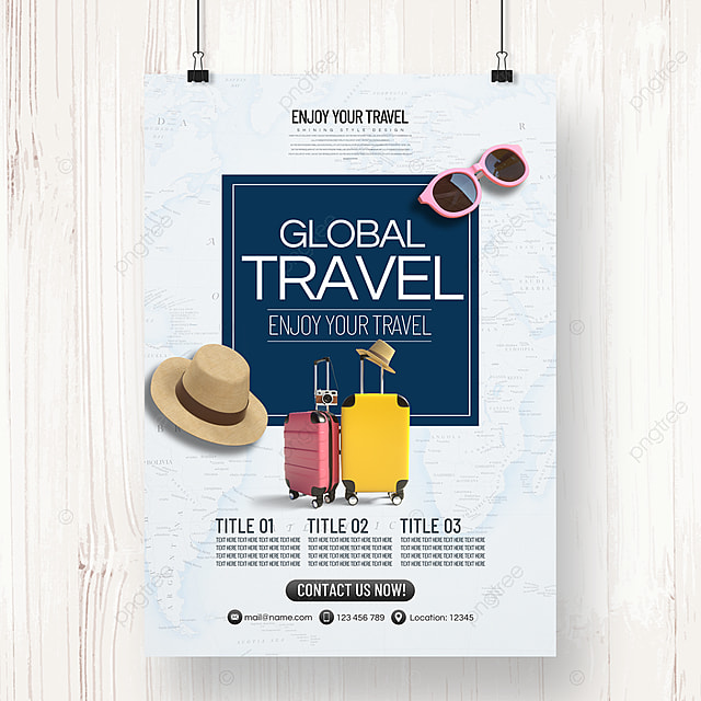 personality creative fashion simple tourism agency summer vacation poster