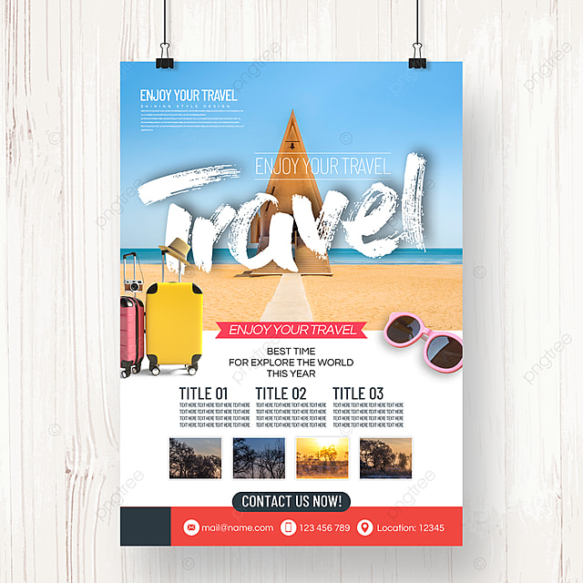 business simple fashion style tourism agency holiday festival poster
