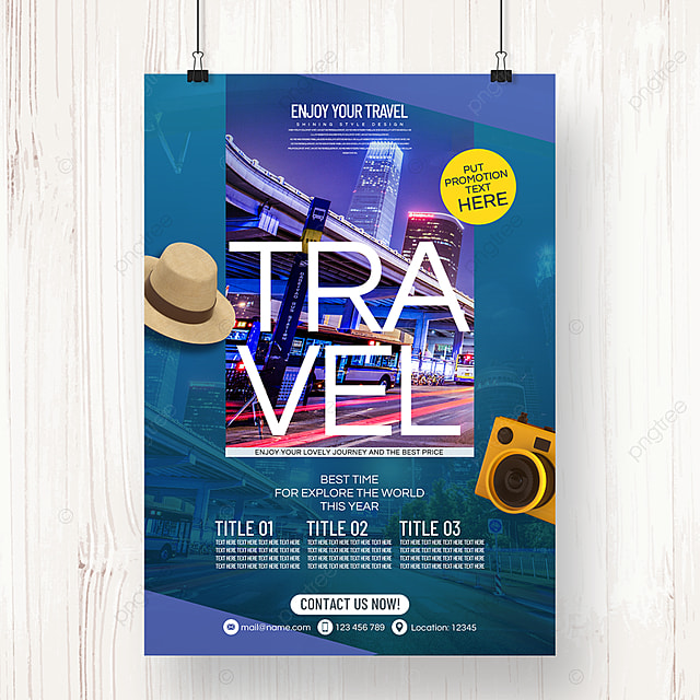 fashion and simple summer travel agency theme promotion poster