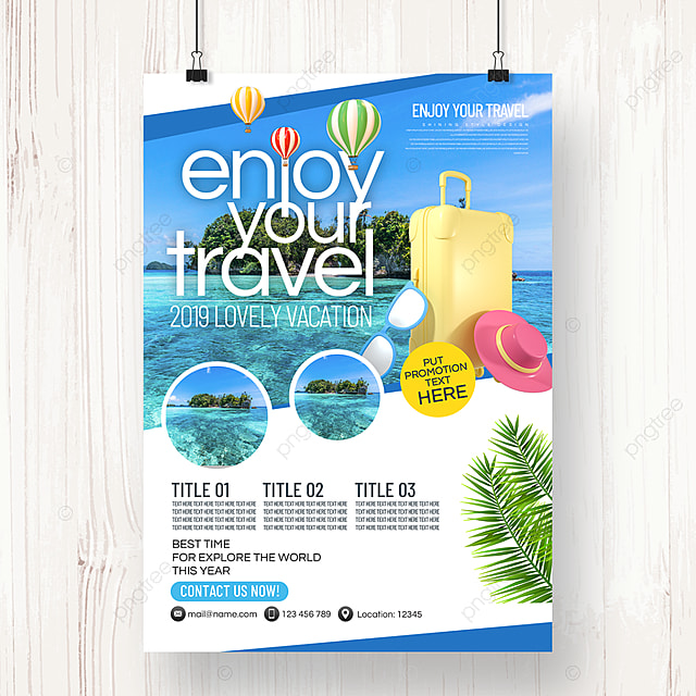fashion simple business fresh style travel agency summer publicity department