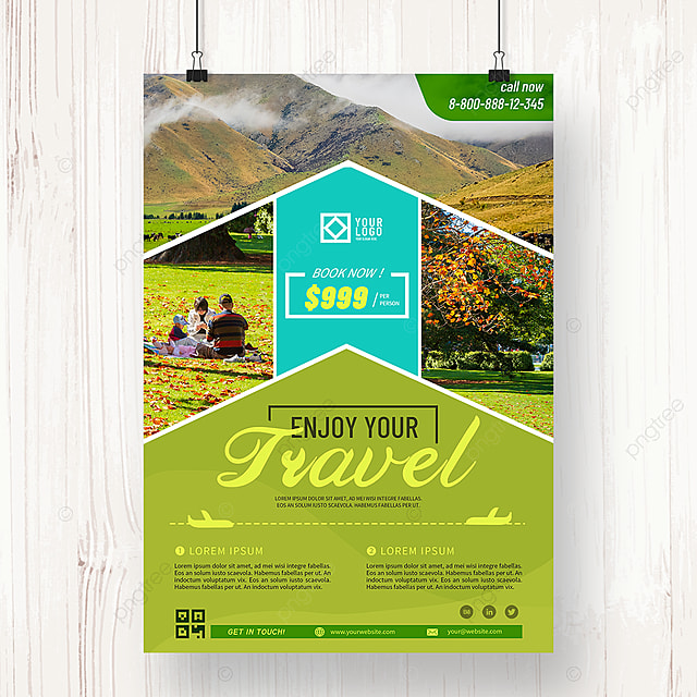 green tourism agency summer promotion poster