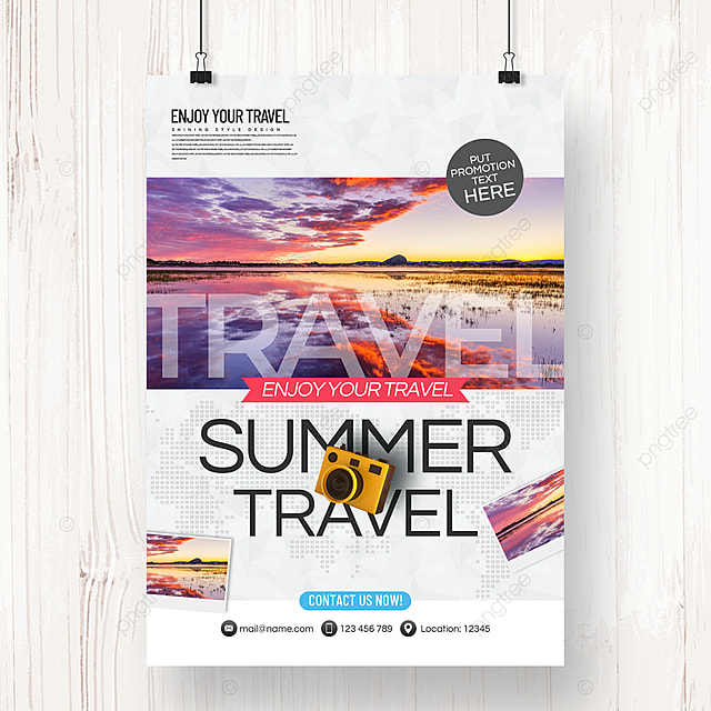 modern fashion business style travel agency theme promotion poster