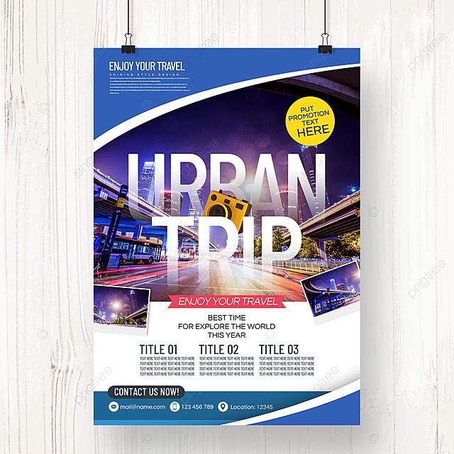 modern fashion minimalist tourism agency holiday theme promotion poster