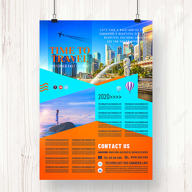 modern travel agency holiday promotion poster design