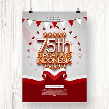 20 Anggun Poster Hari Kemerdekaan Indonesia Koleksi Template Pngtree