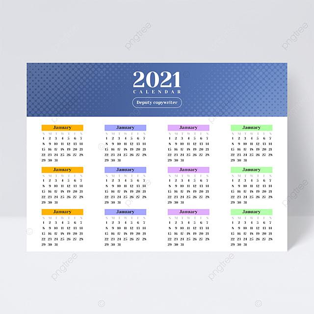 Calendrier Commercial 2021 Dépliant De Conception De Calendrier Business Universal Light