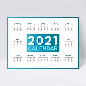 Desain Kalender Gaya Bisnis 2021 Biru Dan Kuning Templat ...