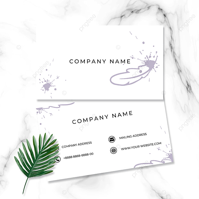 fashion modern minimalist smudge art colorful feather business card