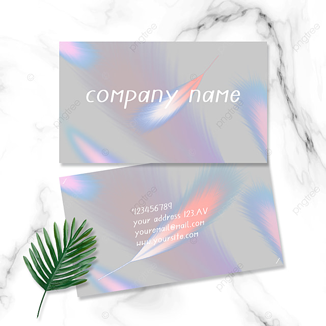 business style colorful feather business card