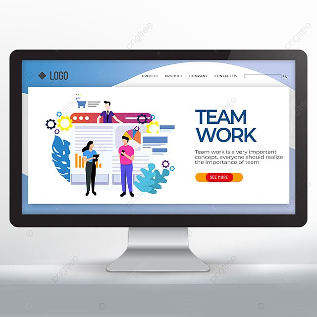 character discussion team cooperation promotion web design