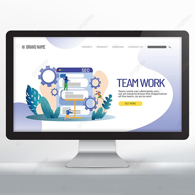cooperative team promotion web design