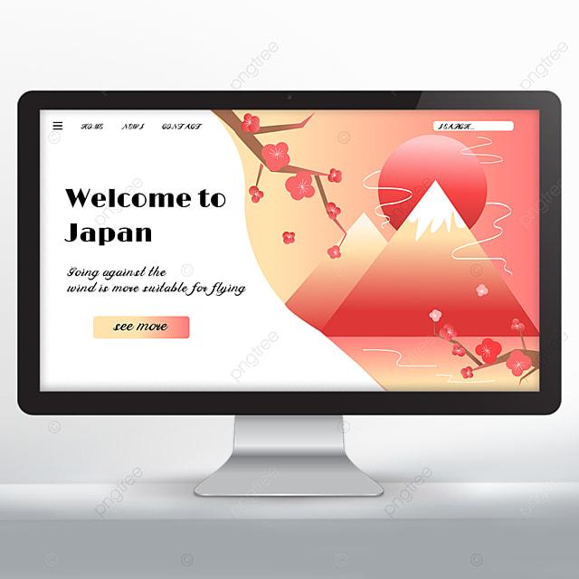 japan travel promotion landing page design