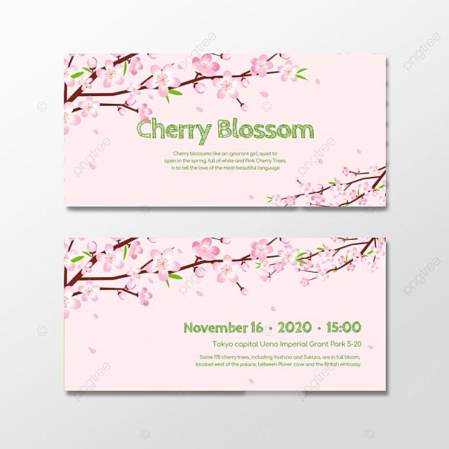 pink cherry blossom souvenir gift certificate