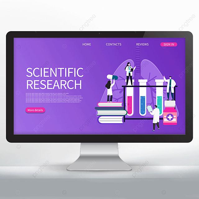 purple scientific research promotion web design