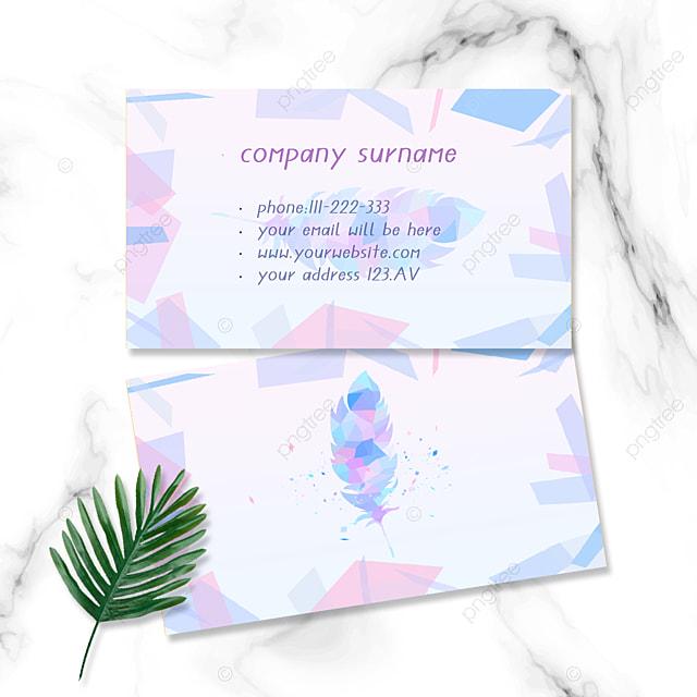 purple simple feather business card