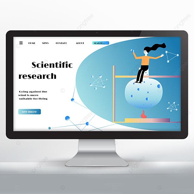 scientific research promotion gradient web design
