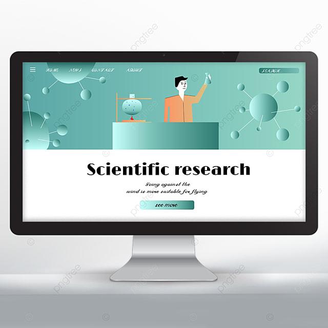 scientific research promotion web design