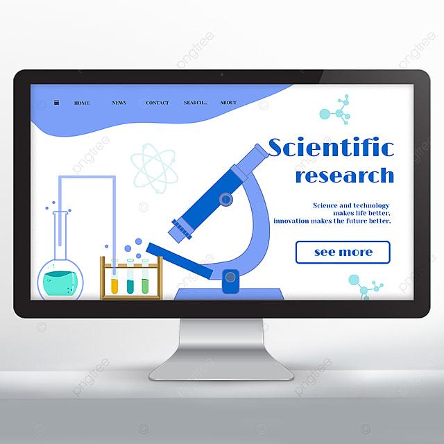 scientific research web design
