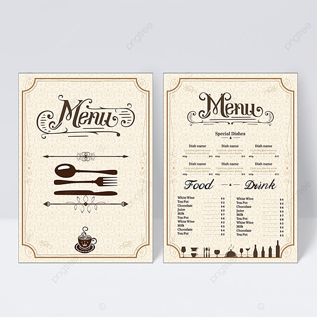 simple style knife and fork element menu