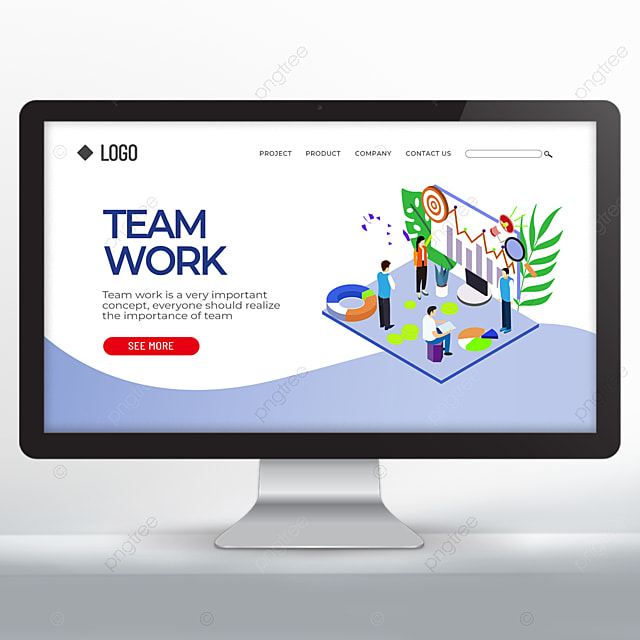 teamwork spirit promotion web design