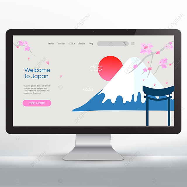 welcome to japan travel promotion landing page design