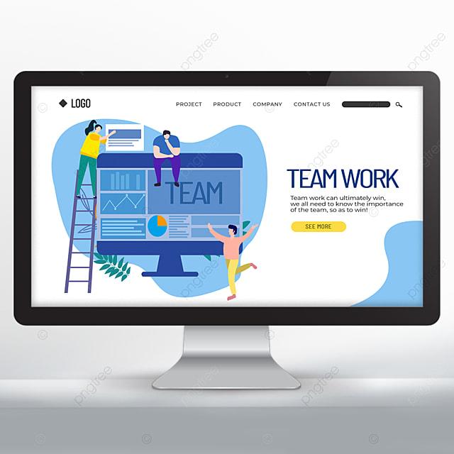 blue teamwork web design