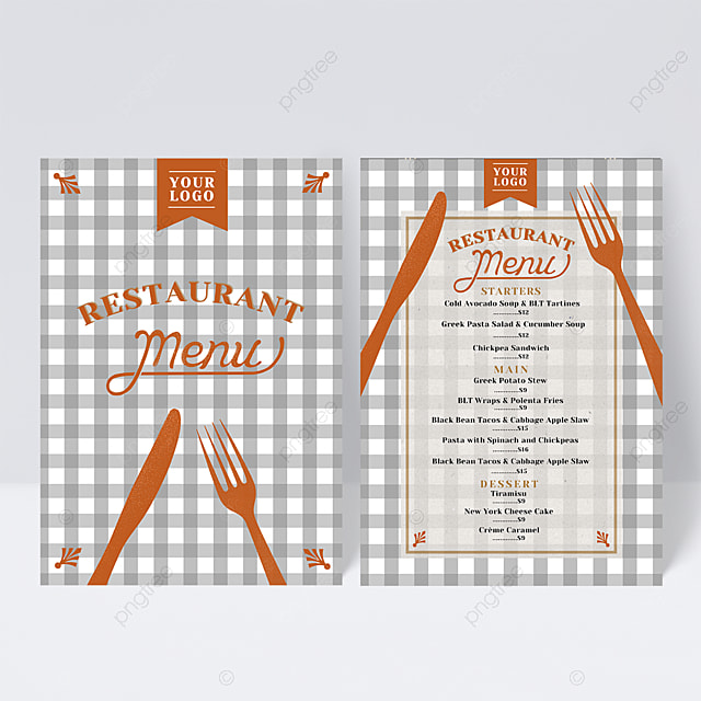 knife and fork element lattice menu design