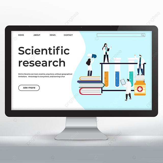 medical test tube biology research promotion webpage design