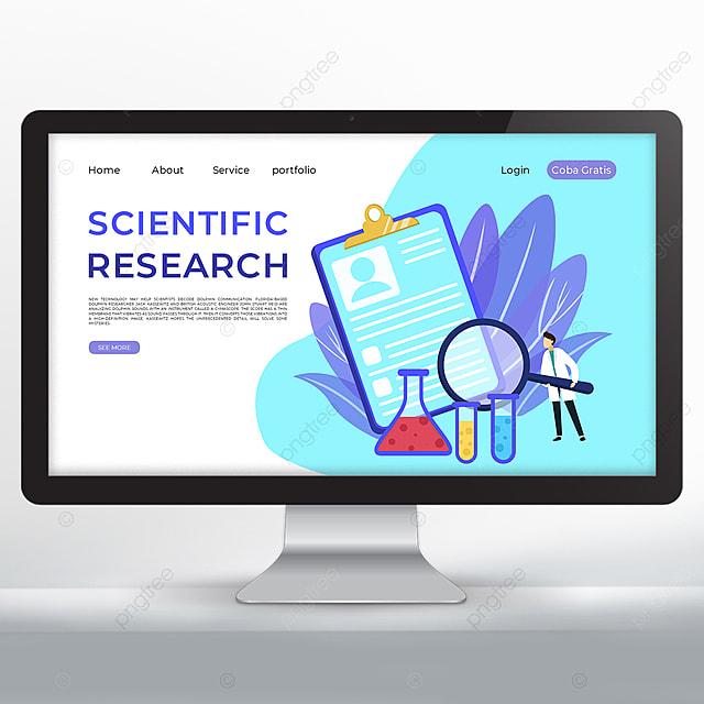 scientific research data promotion web design